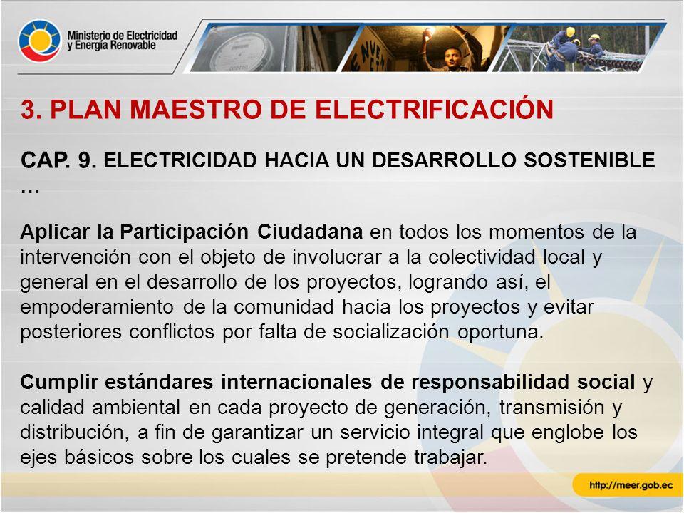 3. PLAN MAESTRO DE ELECTRIFICACIÓN