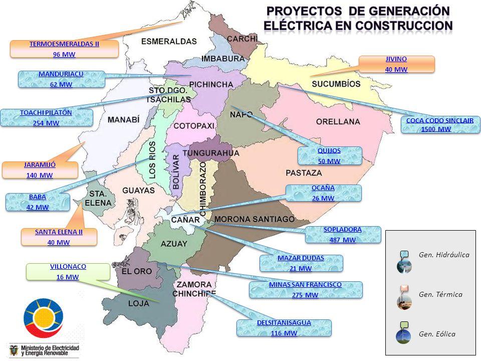 PROYECTOS DE GENERACIÓN ELÉCTRICA EN CONSTRUCCION