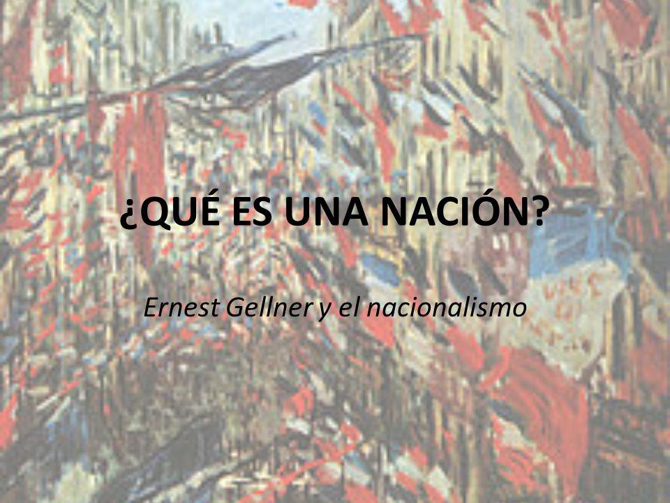 Ernest Gellner y el nacionalismo