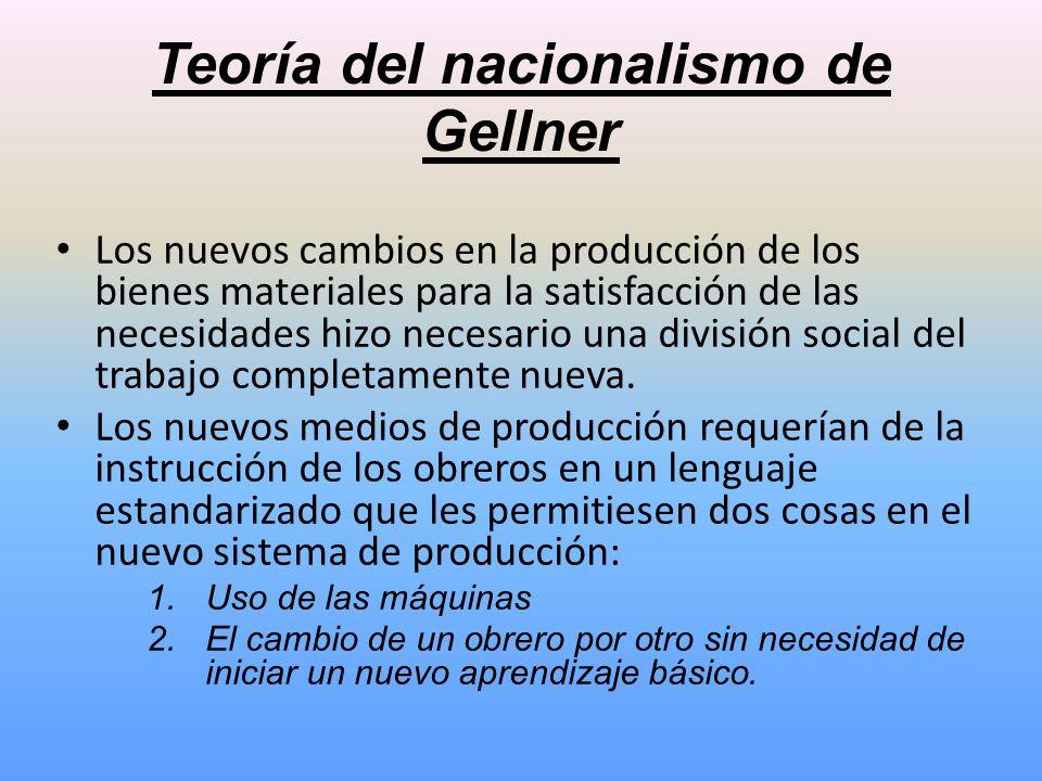 Teoría del nacionalismo de Gellner