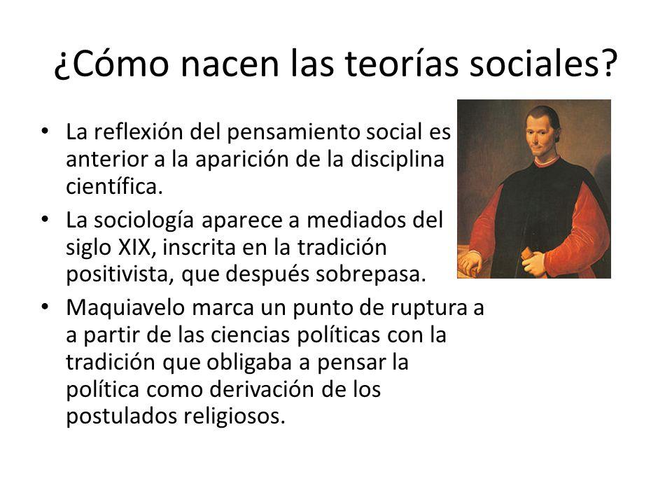 ¿Cómo nacen las teorías sociales