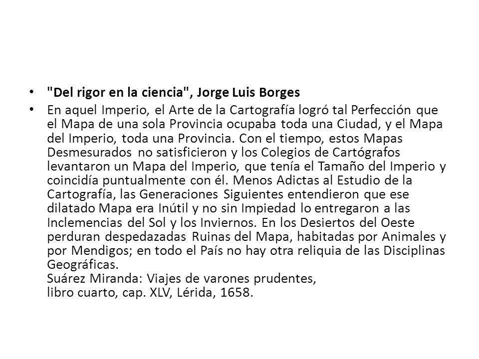 Del rigor en la ciencia , Jorge Luis Borges