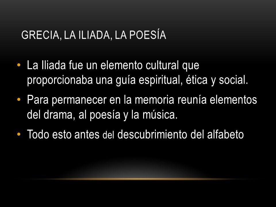 Grecia, la Iliada, la poesía