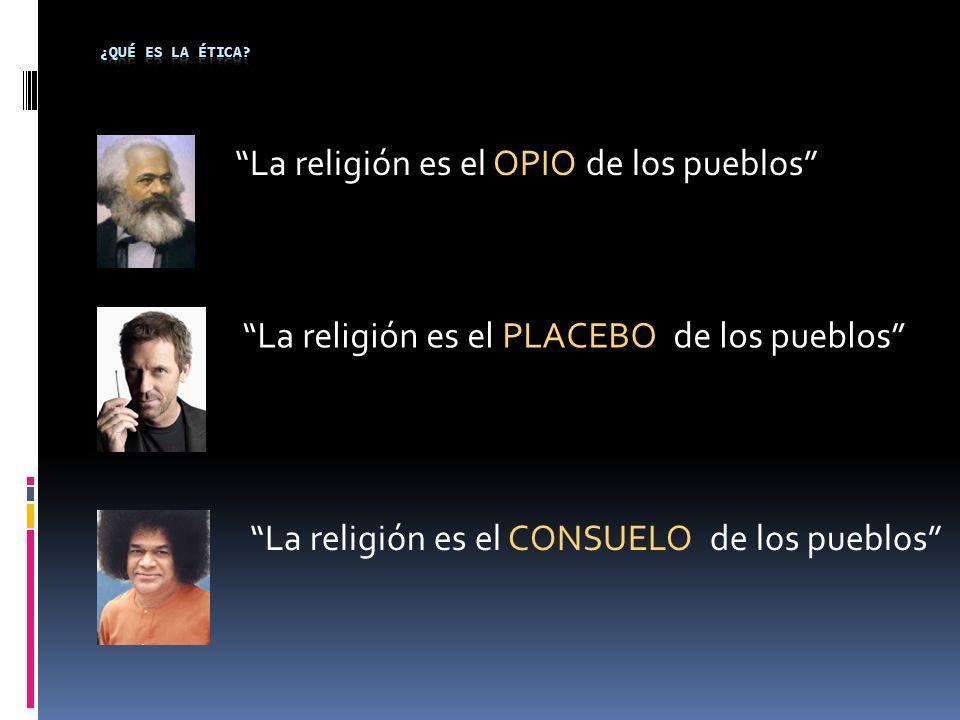 La religión es el OPIO de los pueblos