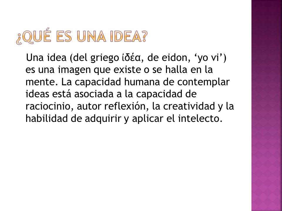 ¿Qué es una idea