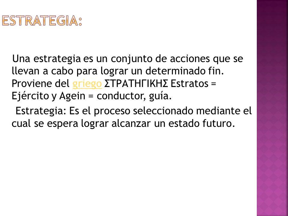 ESTRATEGIA: