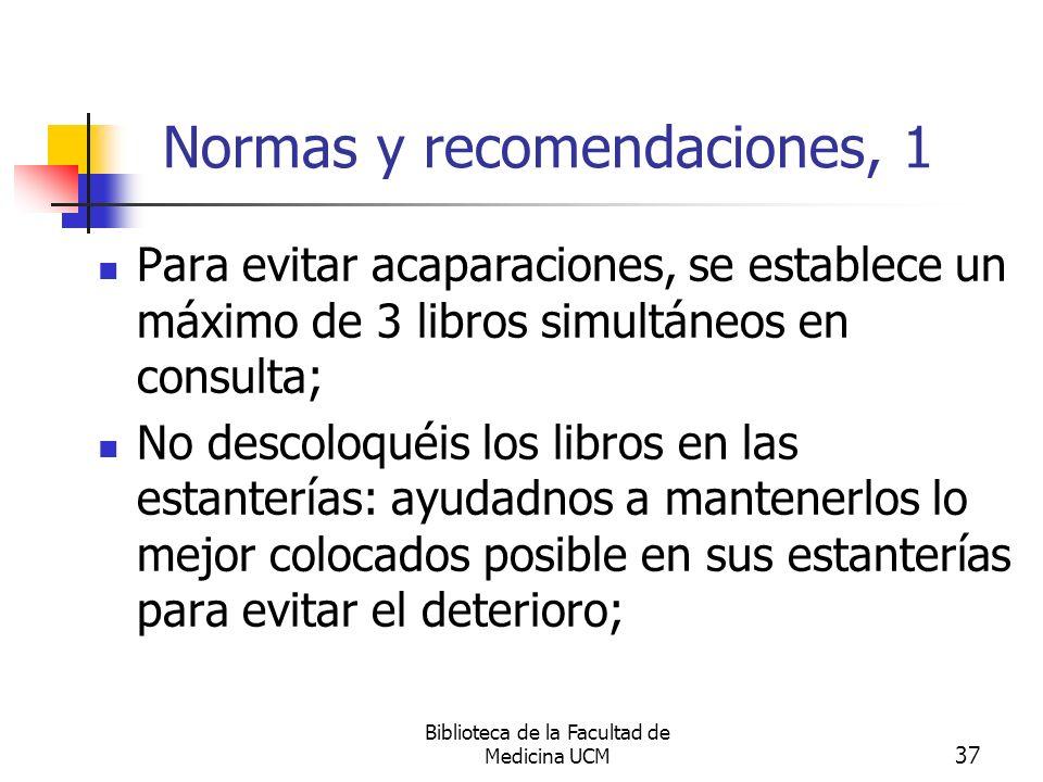 Normas y recomendaciones, 1