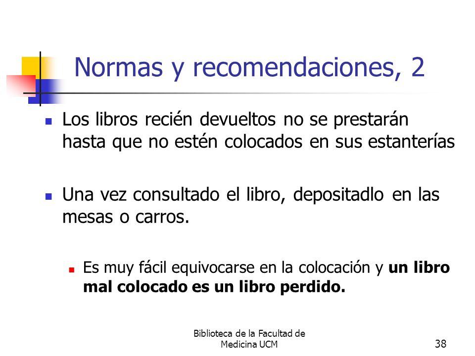 Normas y recomendaciones, 2