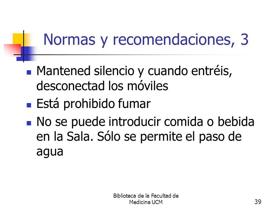 Normas y recomendaciones, 3