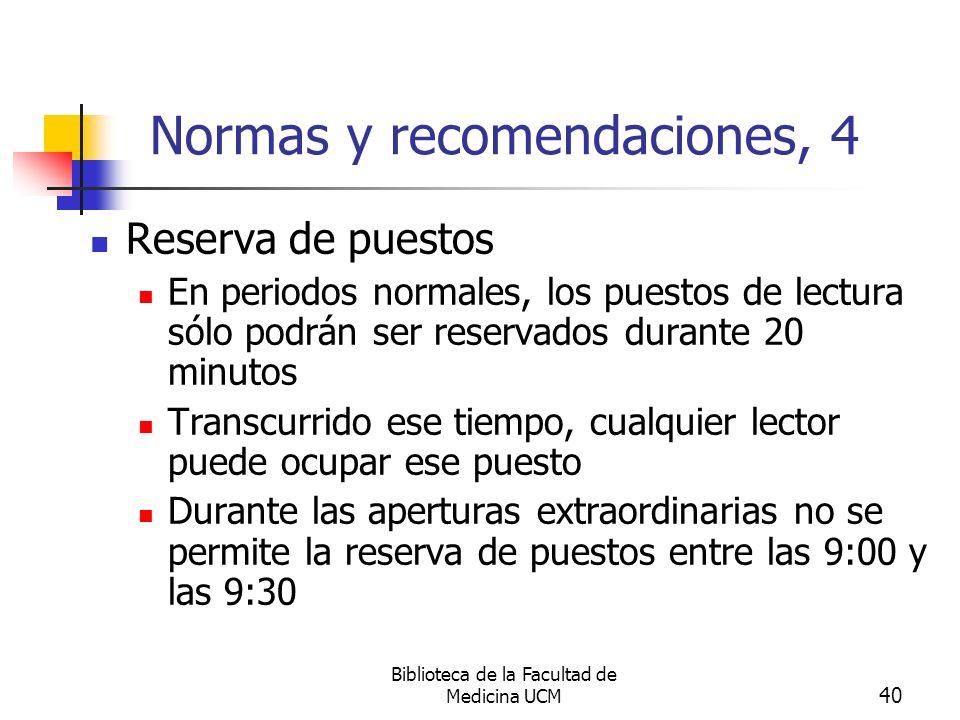Normas y recomendaciones, 4