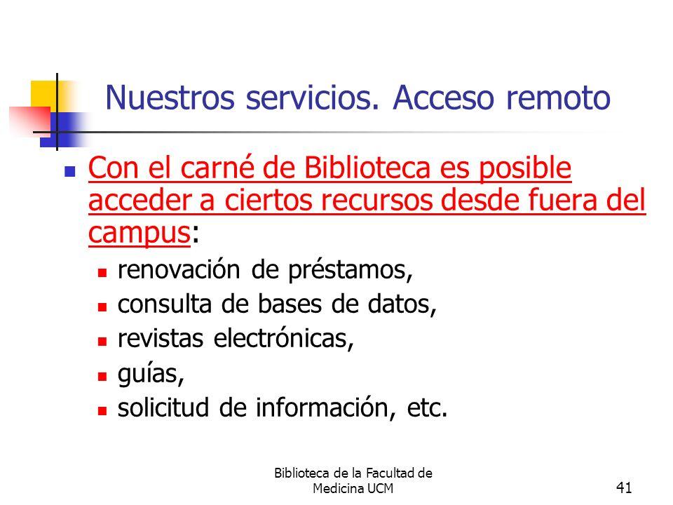Nuestros servicios. Acceso remoto