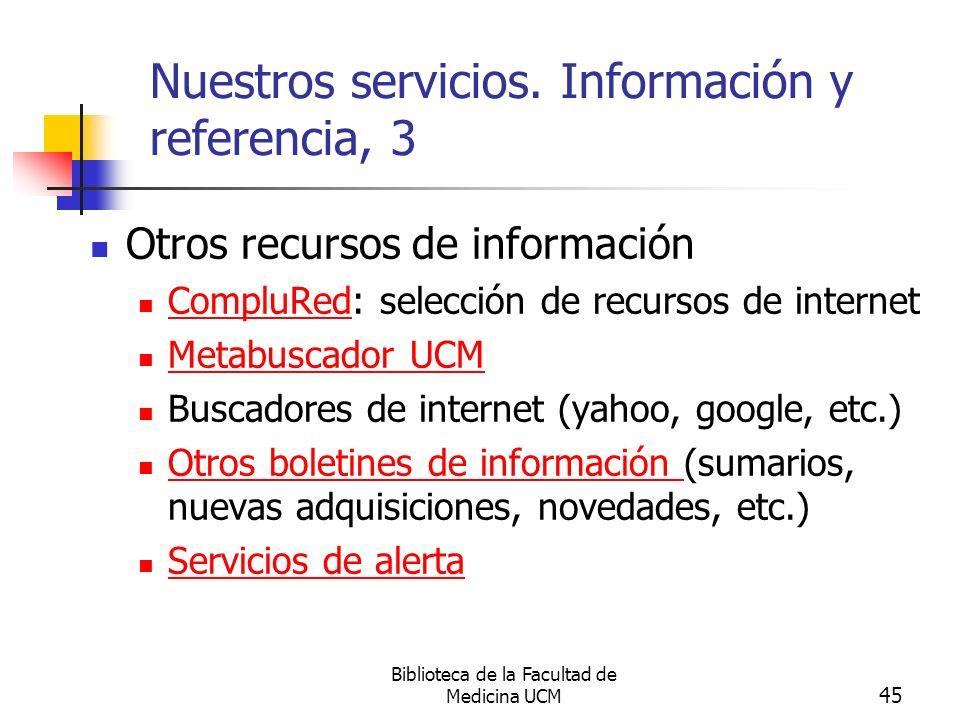Nuestros servicios. Información y referencia, 3