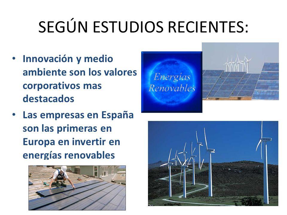 SEGÚN ESTUDIOS RECIENTES: