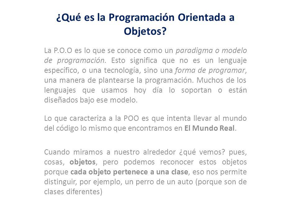 ¿Qué es la Programación Orientada a Objetos