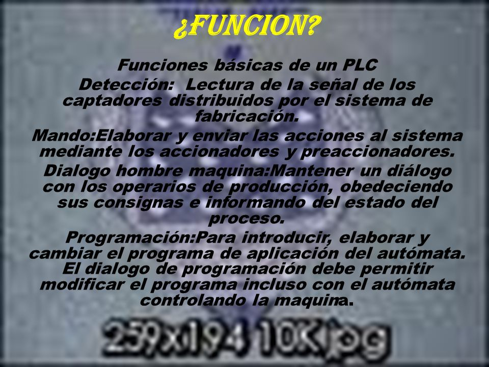 Funciones básicas de un PLC