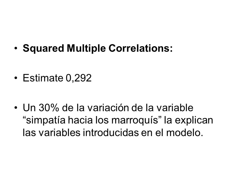 Squared Multiple Correlations: