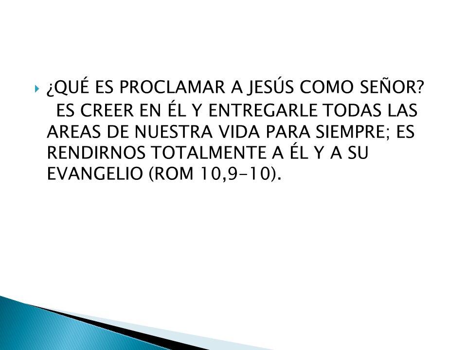 ¿QUÉ ES PROCLAMAR A JESÚS COMO SEÑOR