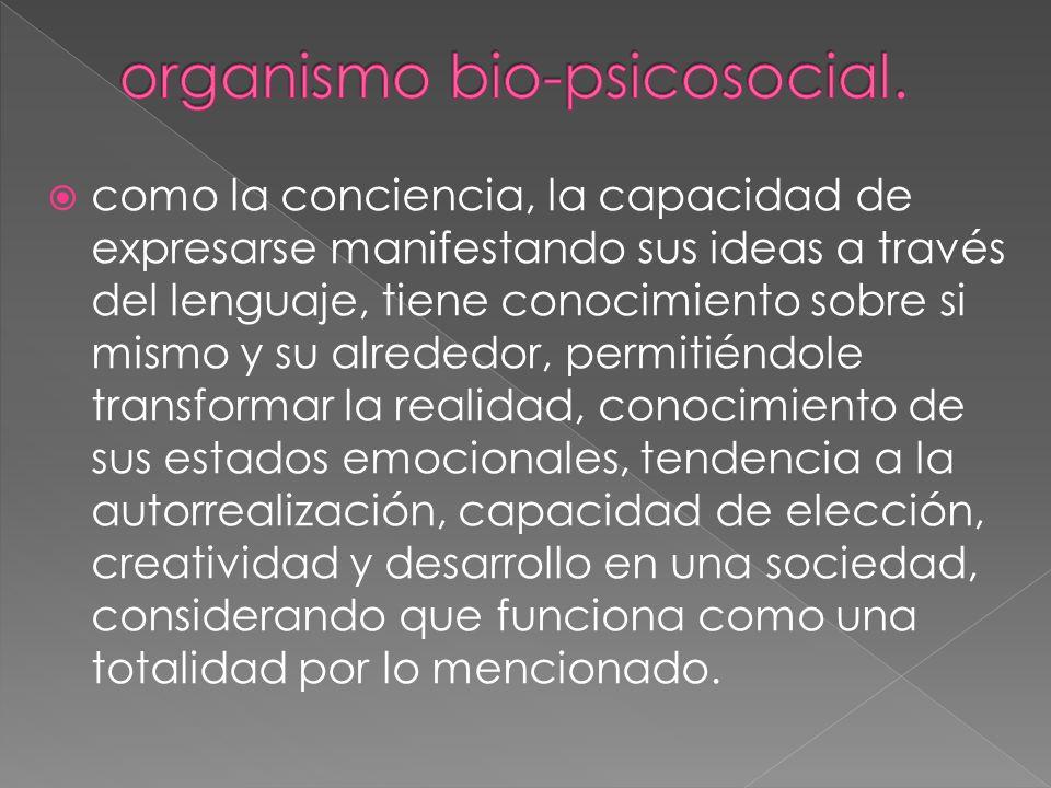 organismo bio-psicosocial.