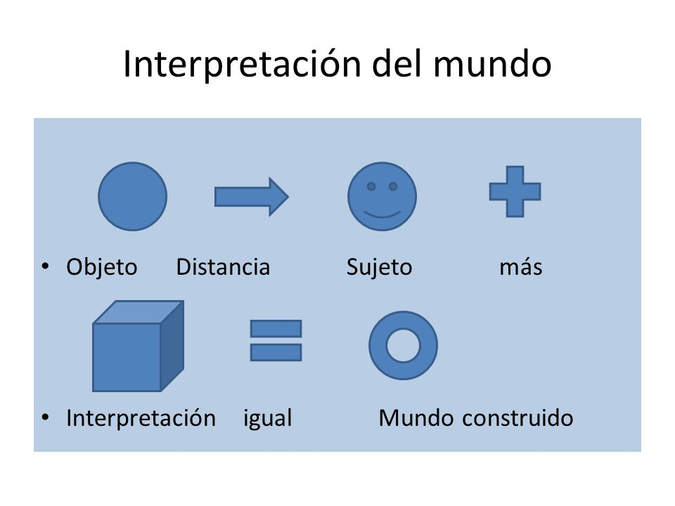 Interpretación del mundo
