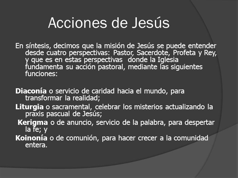 Acciones de Jesús