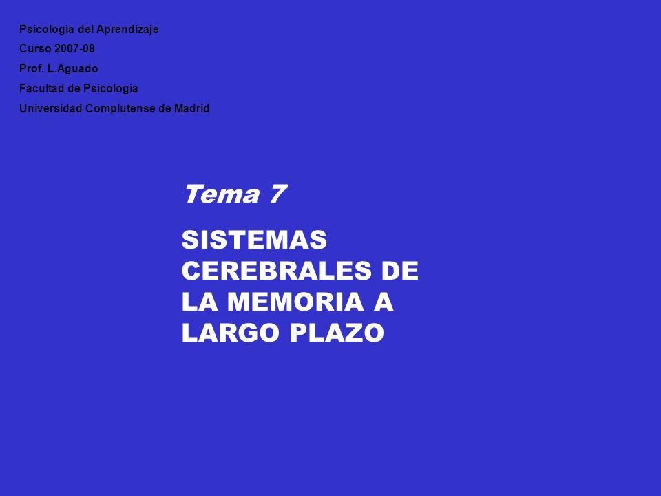 SISTEMAS CEREBRALES DE LA MEMORIA A LARGO PLAZO