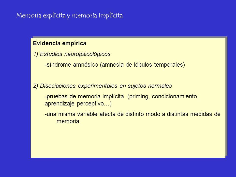 Memoria explícita y memoria implícita