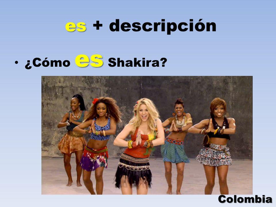 es + descripción ¿Cómo es Shakira Colombia