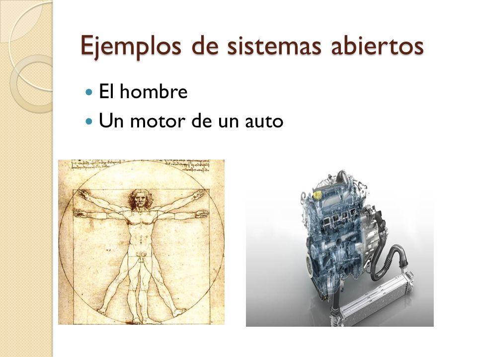 Ejemplos de sistemas abiertos