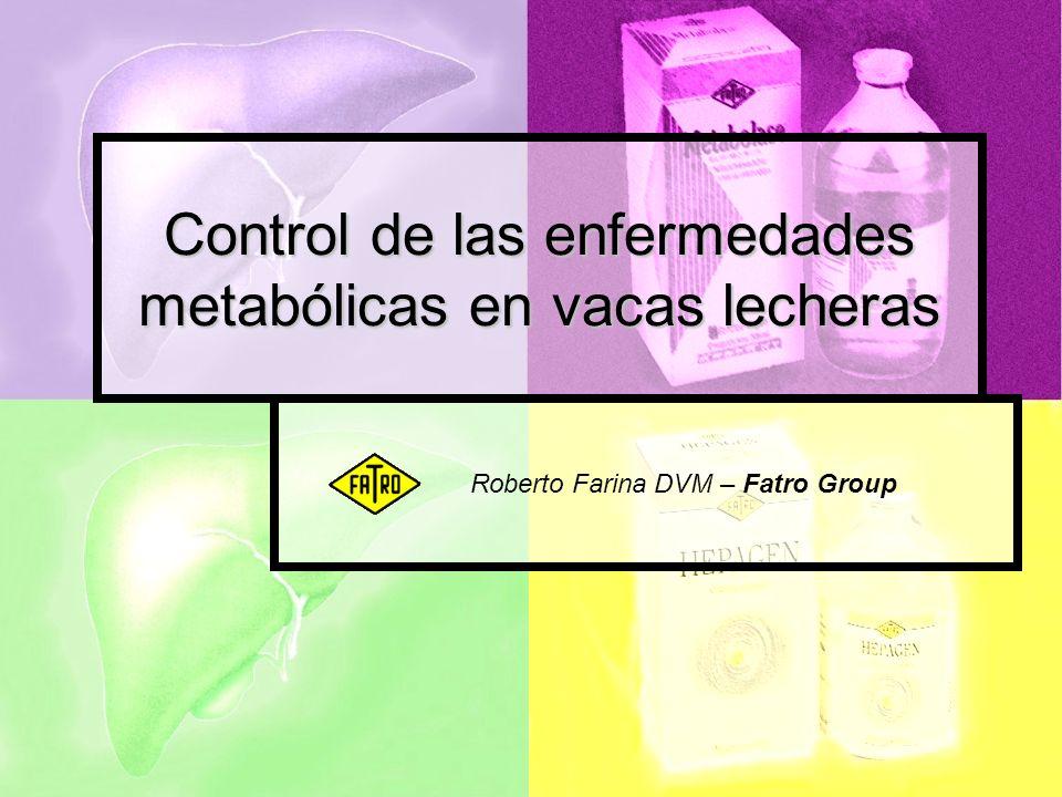 Control de las enfermedades metabólicas en vacas lecheras