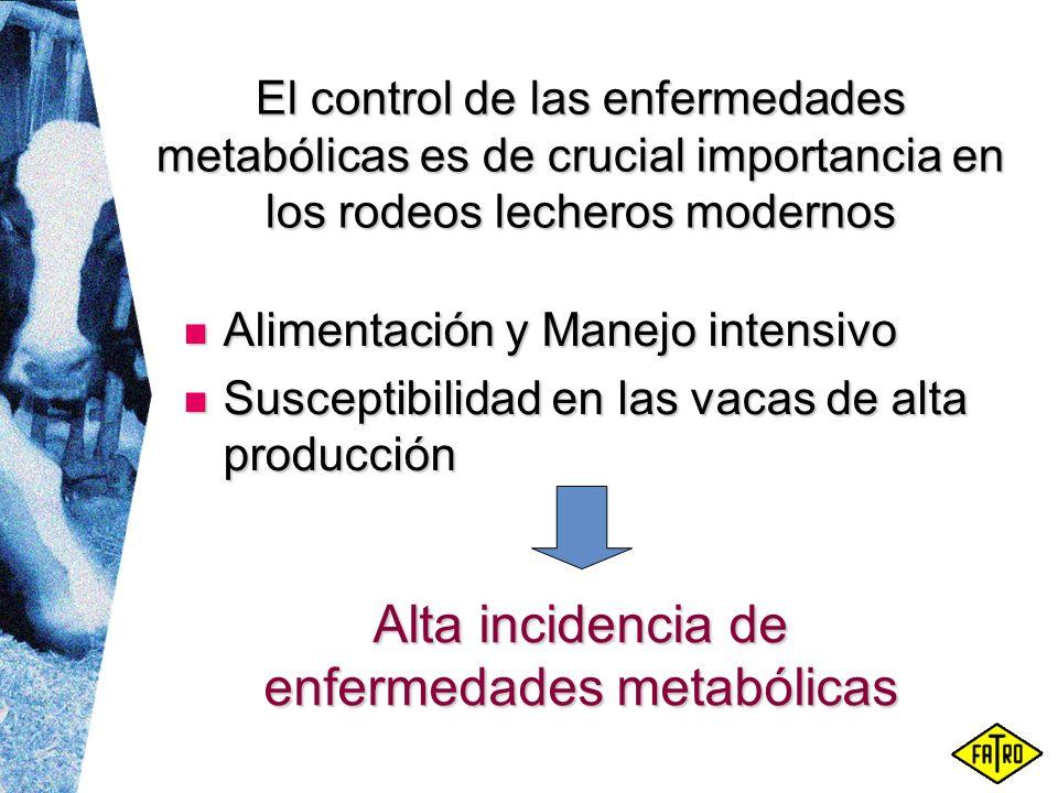 Alta incidencia de enfermedades metabólicas
