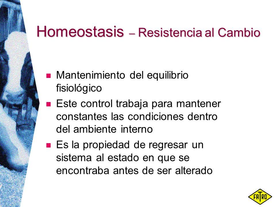 Homeostasis – Resistencia al Cambio