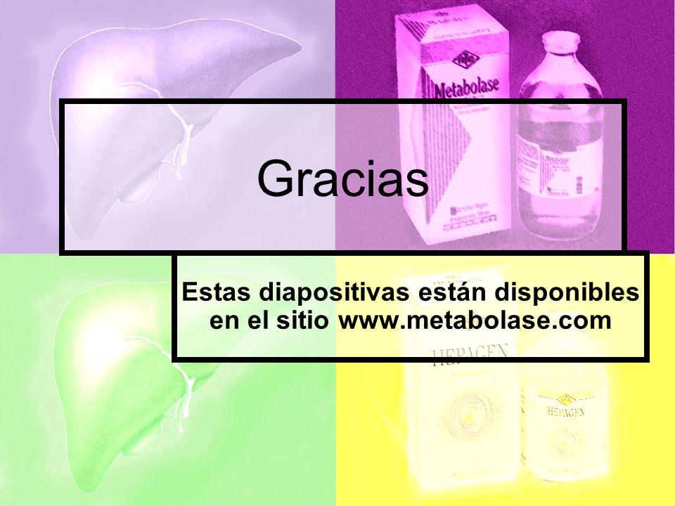Estas diapositivas están disponibles en el sitio www.metabolase.com