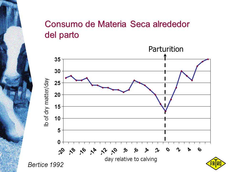 Consumo de Materia Seca alrededor del parto