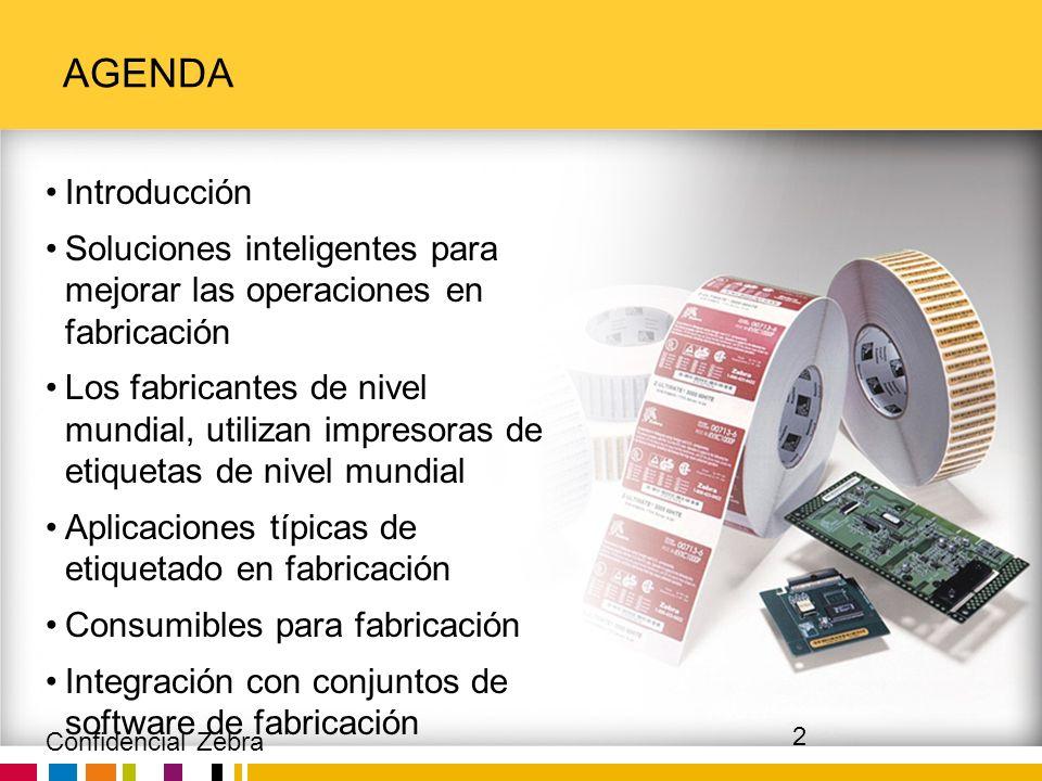 Agenda Introducción. Soluciones inteligentes para mejorar las operaciones en fabricación.
