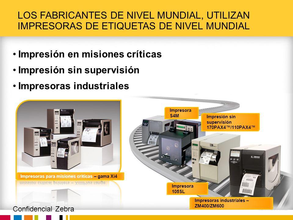 Impresión en misiones críticas Impresión sin supervisión