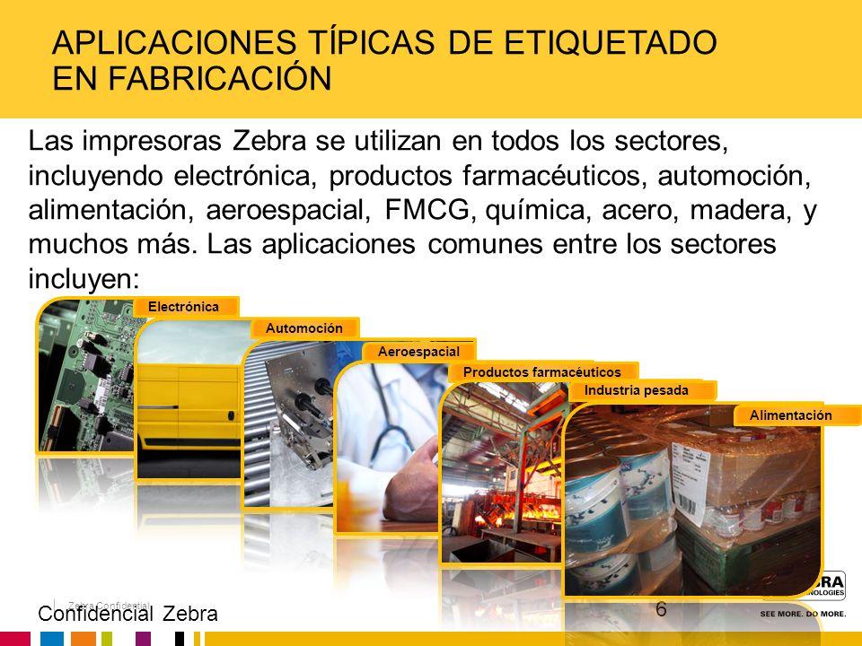 Aplicaciones típicas de etiquetado en fabricación