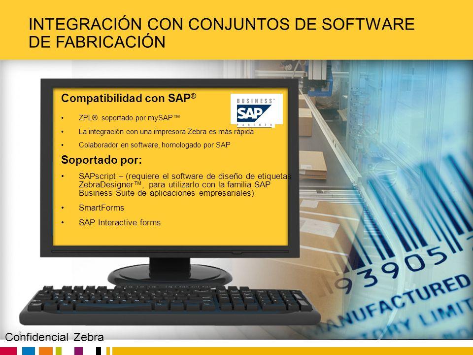 Integración con conjuntos de software de fabricación