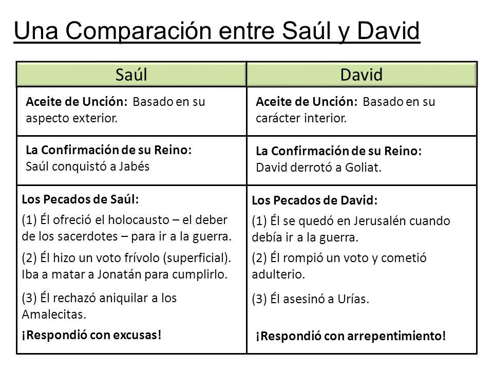 Una Comparación entre Saúl y David