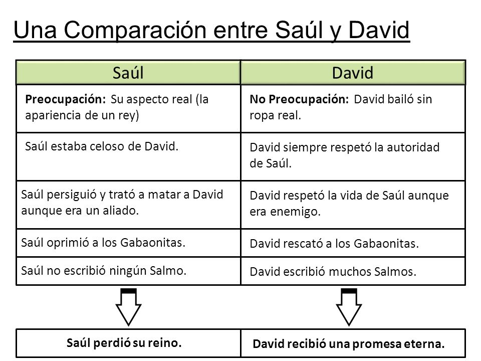 David recibió una promesa eterna.