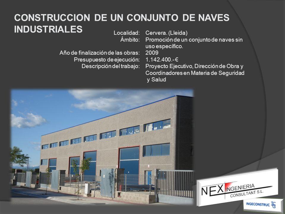CONSTRUCCION DE UN CONJUNTO DE NAVES INDUSTRIALES