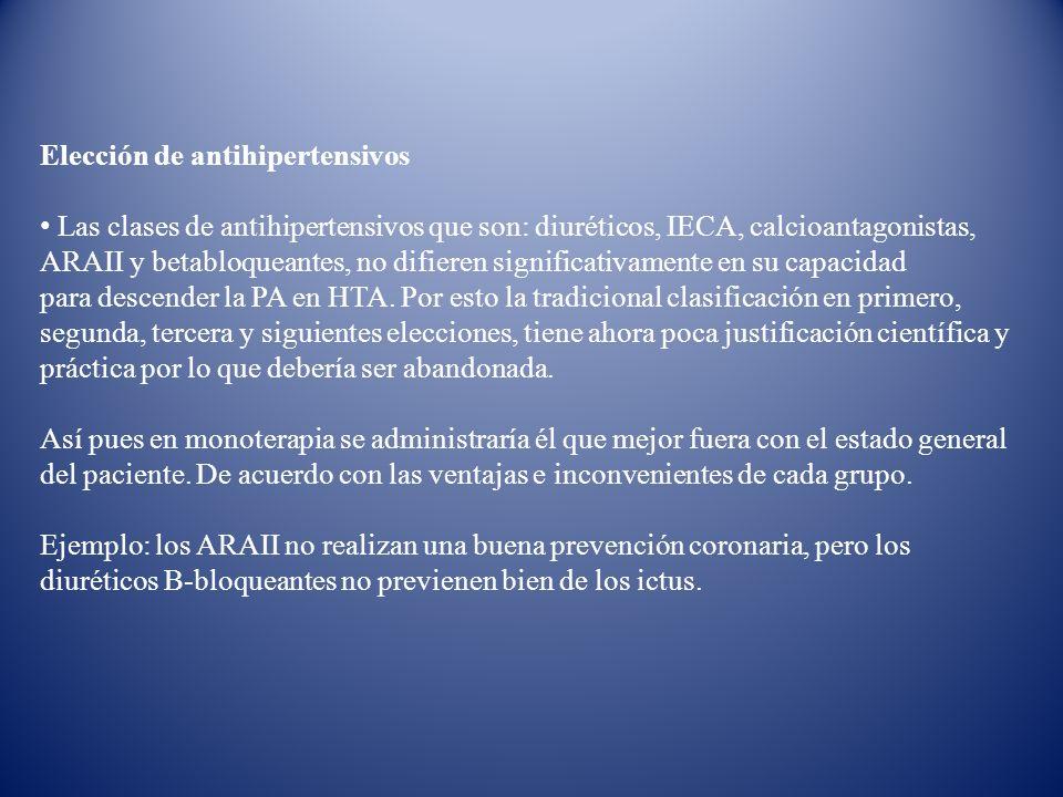 Elección de antihipertensivos