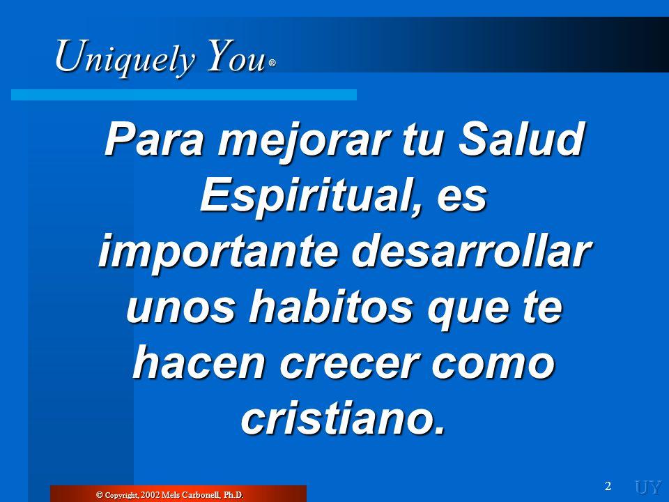 Para mejorar tu Salud Espiritual, es importante desarrollar unos habitos que te hacen crecer como cristiano.
