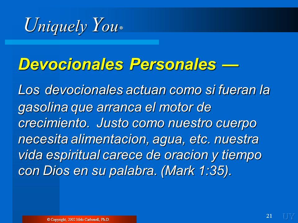 Devocionales Personales —