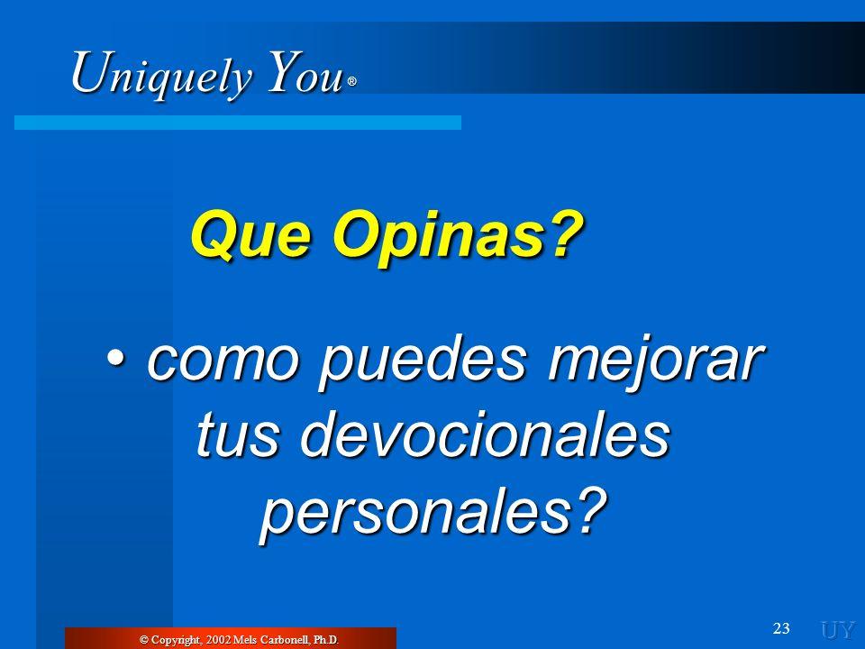 • como puedes mejorar tus devocionales personales