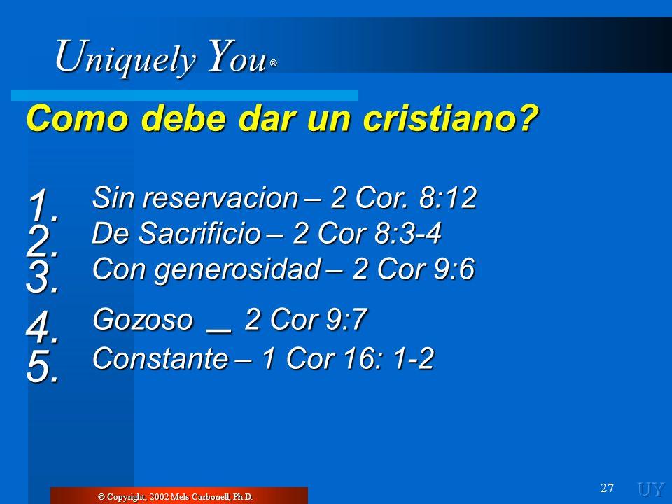 Como debe dar un cristiano