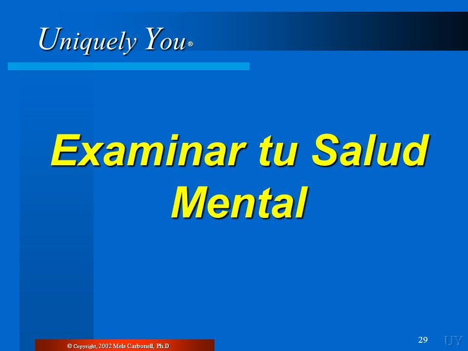 Examinar tu Salud Mental