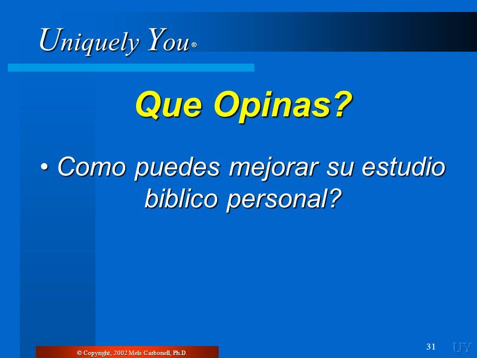 • Como puedes mejorar su estudio biblico personal