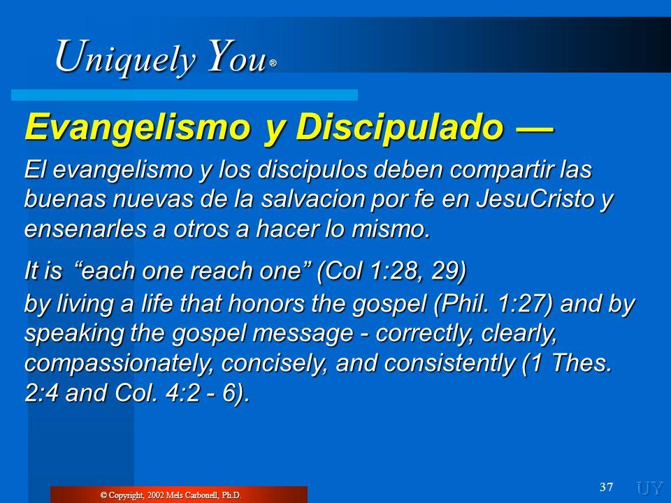 Evangelismo y Discipulado —