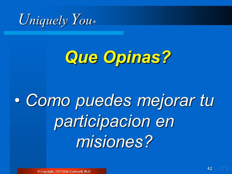 • Como puedes mejorar tu participacion en misiones