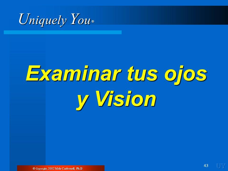 Examinar tus ojos y Vision